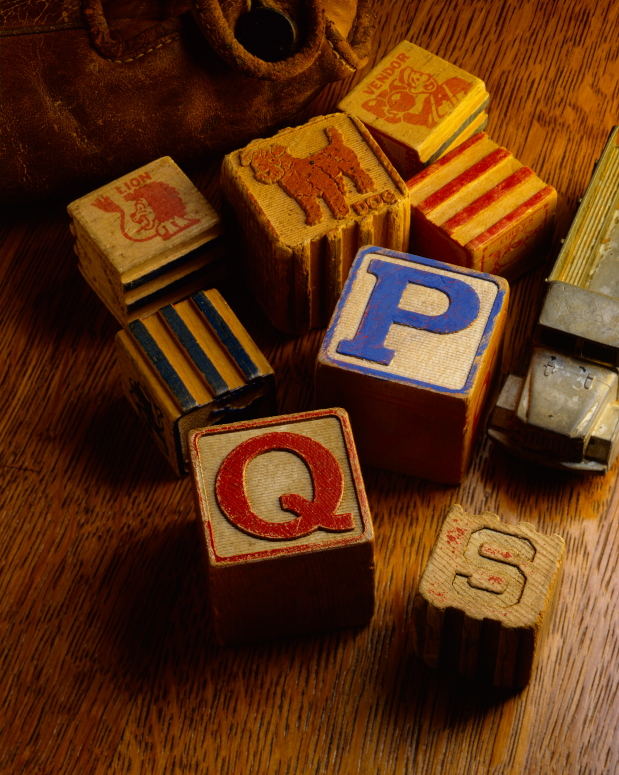 Blocks with letters on it